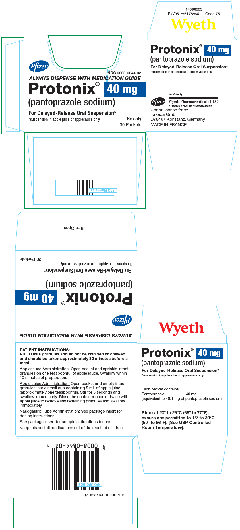 Principal Display Panel - 40 mg Packet Carton