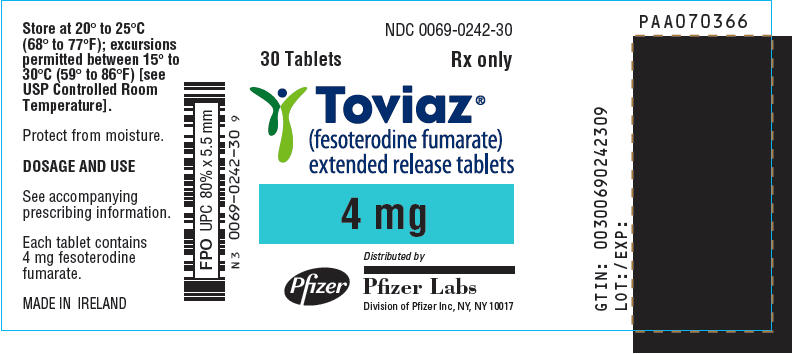 PRINCIPAL DISPLAY PANEL - 4 mg Tablet Bottle Label