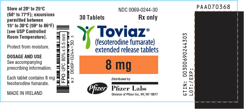 PRINCIPAL DISPLAY PANEL - 8 mg Tablet Bottle Label