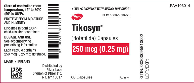 PRINCIPAL DISPLAY PANEL - 0.25 mg Capsule Bottle Label